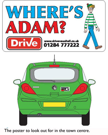 Haverhill-UK - News - Adam drives a new Comic Relief campaign